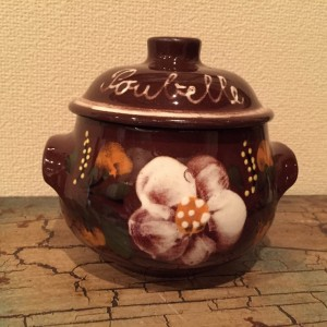 Poubelle de table en céramique d'Alsace