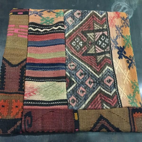 Housse de coussin kilim en tapis turc
